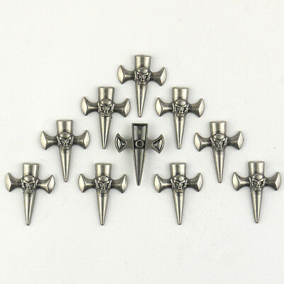 Magic Show 10pcs Saddle Conchos -- Skull Cross Punk TO273