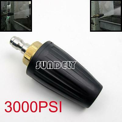 "Black 2.6 GPM Pressure Washer Rotating Turbo Nozzle 3000 PSI 1/4"" Quick Connect"