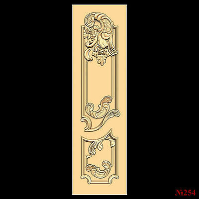(254) STL Model Door for CNC Router 3D Printer  Artcam Aspire Bas Relief