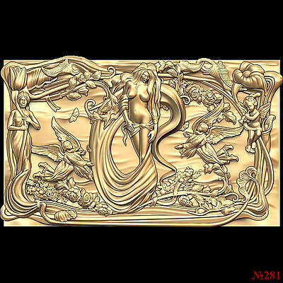 (281) STL Model for CNC Router 3D Printer  Artcam Aspire Bas Relief