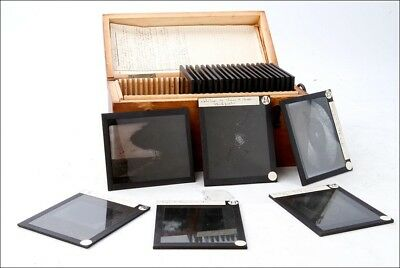 Antique Set of 25 Photographic Meteorologic Glass Plates. France, 1900