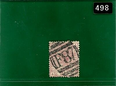 BLACK498 GB Used Abroad Turkey LEVANT 2.5d plate 10 VFU superb 'F87' SMYRNA
