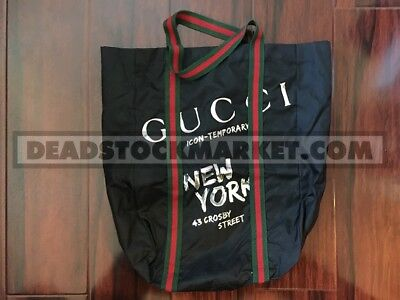 Gucci Mark Ronson New York Icon Temporary Pop Up Shop Tote Bag Rare Ny