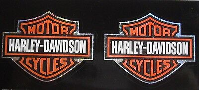 Harley Davidson Bar And Shield 2 pc Auto Truck Decal Set Licensed H-D Reflective