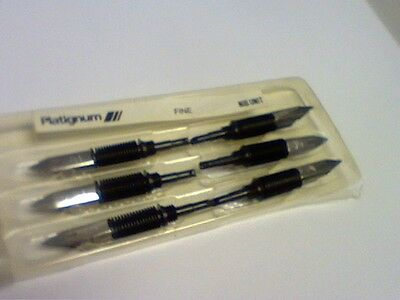 Vintage Platignum Fountain Pen Nibs Std-Pack Of 6 Made In England Fine-Free Post