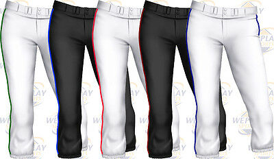 Easton Pro Piped Piping Braid Adult Womens Fastpitch Softball Pants A164148 NEW