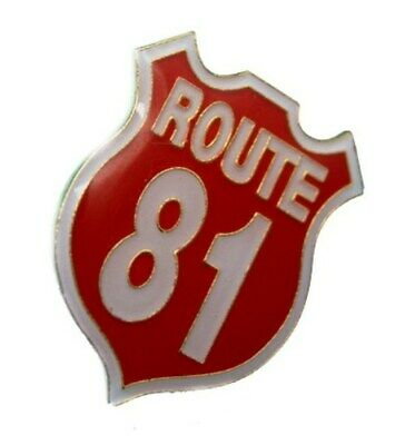 """Hells Angels Support Pin """"ROUTE 81"""""""