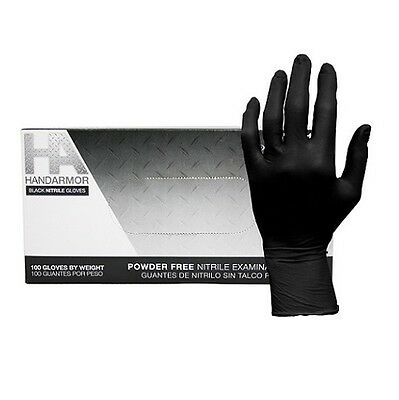Hand Armor 5.0 Mil Black Nitrile Powder-Free Gloves, 100/Box, 10 Boxes/Case
