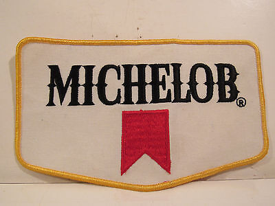 """Cloth Embroidered Patch, 7 7/8"""" x 4 5/8"""" MICHELOB"""