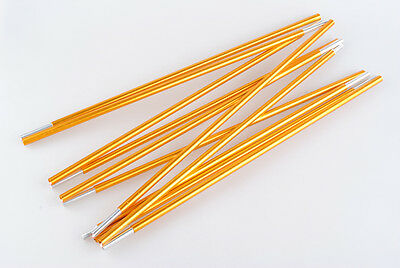 Outdoor Camping Hiking Travel 11 Sections Aluminum Alloy 8.5mm 404cm Tent Poles