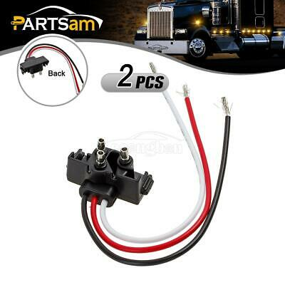 2x3 Prong Pigtail Wire Plugs for Truck Trailer Bus Boat RV Stop Turn Tail Lights