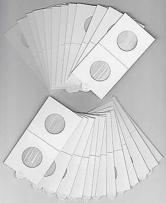 "LIGHTHOUSE 25mm SELF ADHESIVE 2""x 2"" COIN HOLDERS x 25 - SUIT SHILLING/10 CENT"