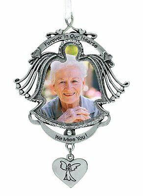 Cathedral Art 'Forever in Our Hearts' Angel Photo Frame - Memorial Ornament, 3-1
