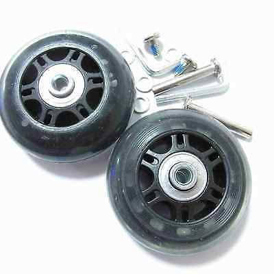 2 Set Luggage Suitcase Replacement Wheels Axles Deluxe Repair OD 70 mm