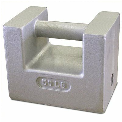 Rice Lake 12839 Cast Iron Painted Grip Handle Test Weight, 50lb Mass, NIST Class
