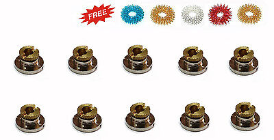 Acupuncture Moxibustion Therapy Mini Moxa Stands (Set of 10)+ Free 5 Sujok Rings