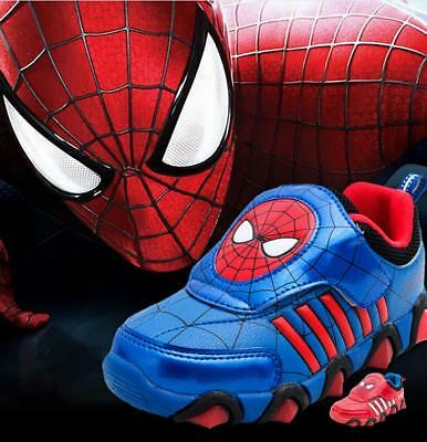 Scarpe Bambino Luci Led  Spiderman Kinder Schuhe Lights Baby Shoes Led