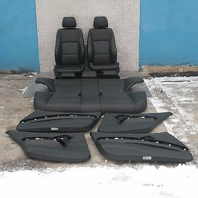 BMW 3 SERIES E90 M Sport Black Leather Interior Seats with Airbag and Door Cards