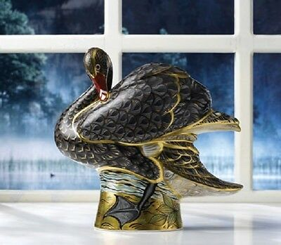 New Royal Crown Derby 1st Quality Limted Edition Prestige Black Swan Paperweight