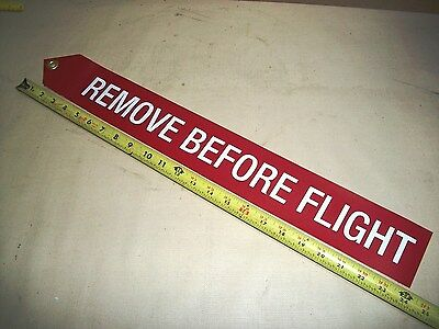 "Remove Before Flight Streamer, 24"" L. #6521BWR, NAS1756-24, Airplane Motorcycle"