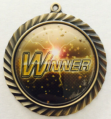 Winner Victory Achievement Medal 66mm Award Trophy FREE Engraving & Neck Ribbon