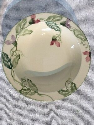 "Poole Pottery Sweetpea 7 1/2"" Rimmed Bowl X 3"