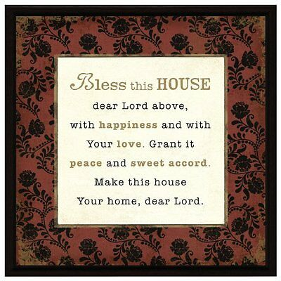 Bless This House Wood Frame Plaque with Easel, New, Free Shipping