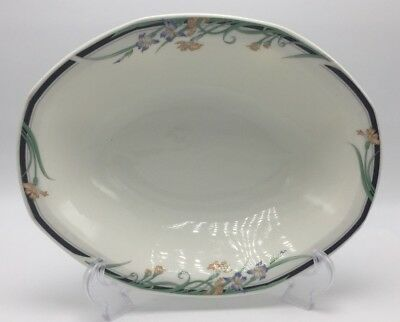 "1 Fine China 10"" Oval Vegetable Bowl Octagonal Juno Royal Doulton, England"