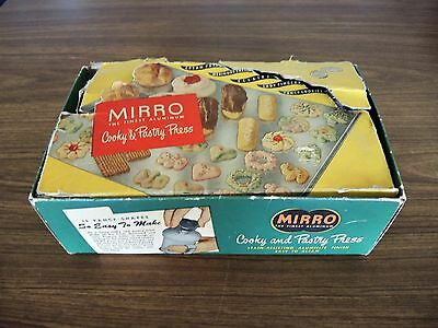 Vintage Mirro Cooky & Pastry Press In Box W Book &  Attachments, Model 358 Am.