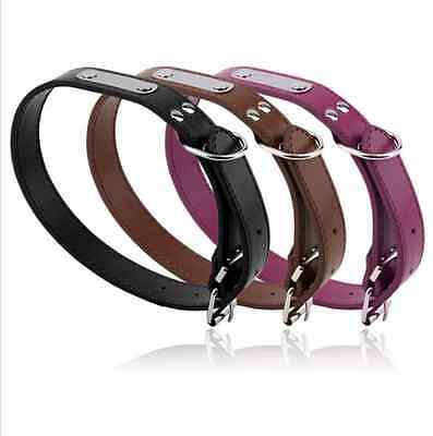 High quality Leather Dog Pet Cat Puppy Collar Neck Buckle Adjustable Safety Belt