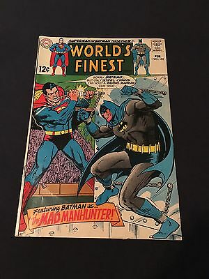 1969 DC Comics Worlds Finest #182 VG+