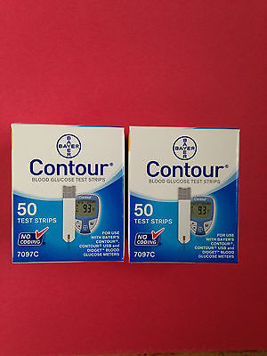 Bayer Contour Blood Glucose 100 Test Strips Expiration Date 05/2018