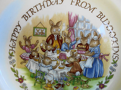 Royal Doulton Bunnykins Plate Happy Birthday From Bunnykins - Like New