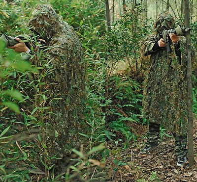 1Pcs Camouflage Jungle Maple poncho Ghillie Suit Sniper Hunting Clothes