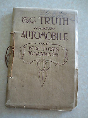 Rare original 1907 Cadillac advertising booklet - The Truth about the Automobile