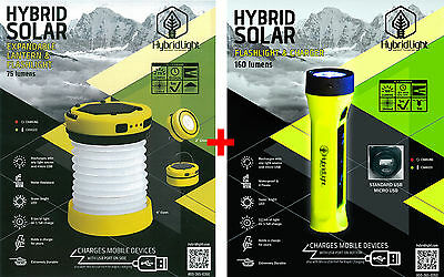 SOLAR Rechargeable Torch LED EXPANDABLE LANTERN/FLASHLIGHT|Fishing Boat Camping|