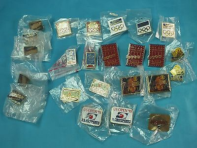 Mixed Lot Of 24 Olympic Games Sports Illustrated Superbowl Pin Badge (12)