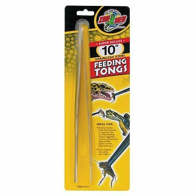 Zoo Med 10in Stainless Steel Feed Tongs TA-21 - Reptile