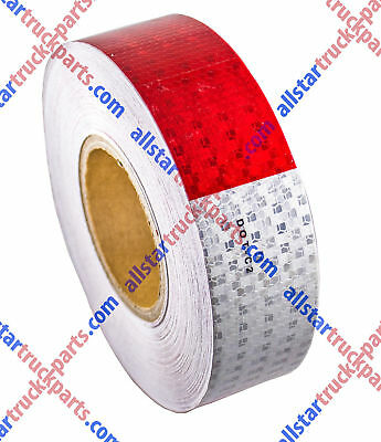 "Qty1-Conspicuity Tape 2""x150' Approved DOT-C2 Reflective Trailer Red White"