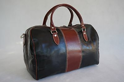 Genuine Italian Leather Duffle Weekend Travel Gym Overnight Bag Holdall Luggage