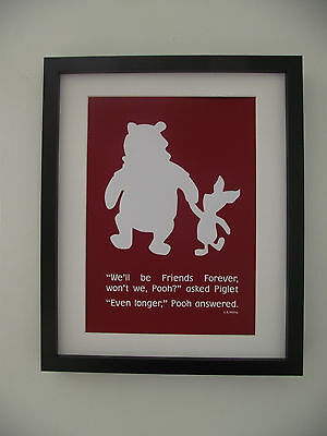Winnie the Pooh & Piglet Inspired - Friends - A4 Art Print / Poster