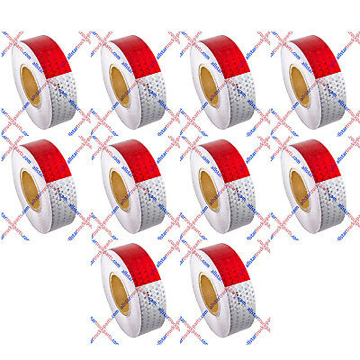 """Conspicuity Tape 2""""x150' Approved DOT-C2 Reflective Safety Truck Trailer Qty 10"""
