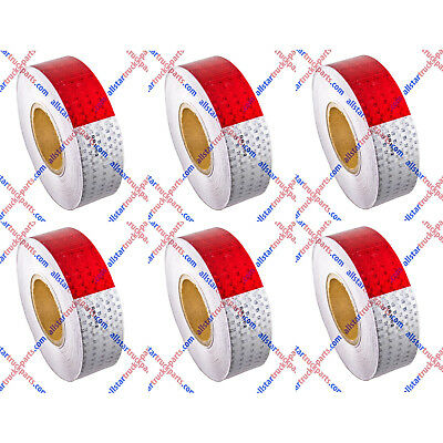 """Conspicuity Tape 2""""x150' Approved DOT-C2 Reflective Safety Truck Trailer Qty 6"""