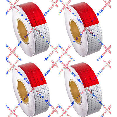 """Conspicuity Tape 2""""x150' Approved DOT-C2 Reflective Safety Truck Trailer Qty 4"""