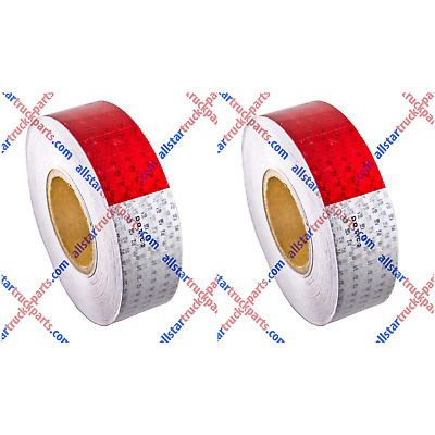 "Qty2-Conspicuity Tape 2""x150' Approved DOT-C2 Reflective Trailer Red White"