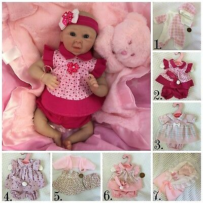 CHILDRENS GIRL BABY TINY DOLLS CLOTHING 26cm size CHOICE OF OUTFITS NEW HANGERS