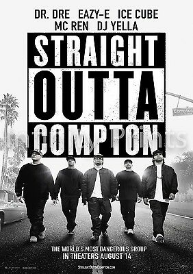 Straight Outta Compton Movie Film Poster A2 A3 A4