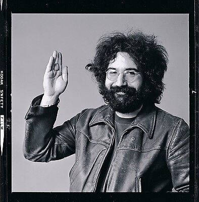 "JERRY GARCIA of The Grateful Dead, 31"" X 31"" Photograph by Baron Wolman, SIGNED"