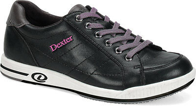 Bowling Shoes Women Dexter Deanna Right handed Genuine leather black/rosa