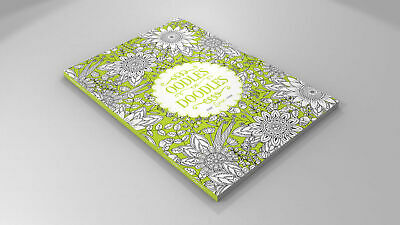 A4 64page Adult Colouring Book - The Orange One